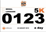 HUMAN RUN 2015 BIB NUMBER 5km