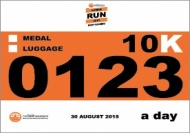 HUMAN RUN 2015 BIB NUMBER 10km